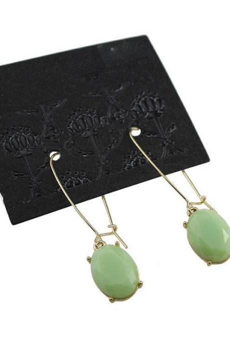 Water Drop Turquoise Earrings-Saim Earrings-Dangle Earrings